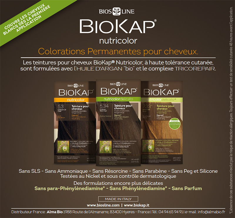 Coloration cheveux naturelle biokap