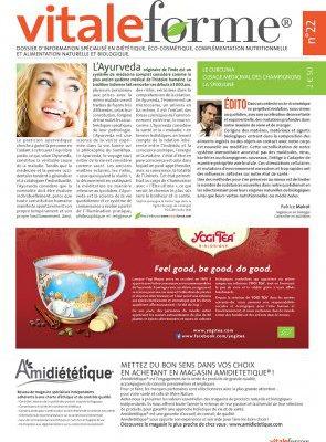 Vitalforme n°22 – L'Ayurveda, le Curcuma, L'usage médicinal des champignons, la spiruline