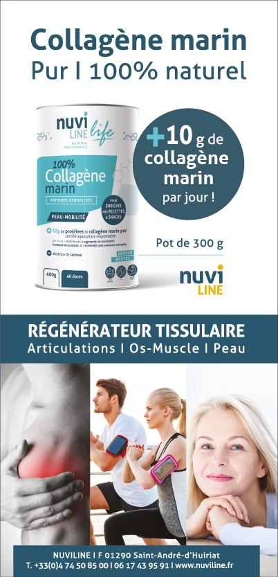 Collagène marin nuviline, régénérateur tissulaire
