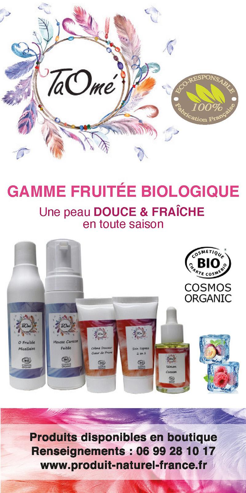 Taomé, cosmétiques fruités biologiques